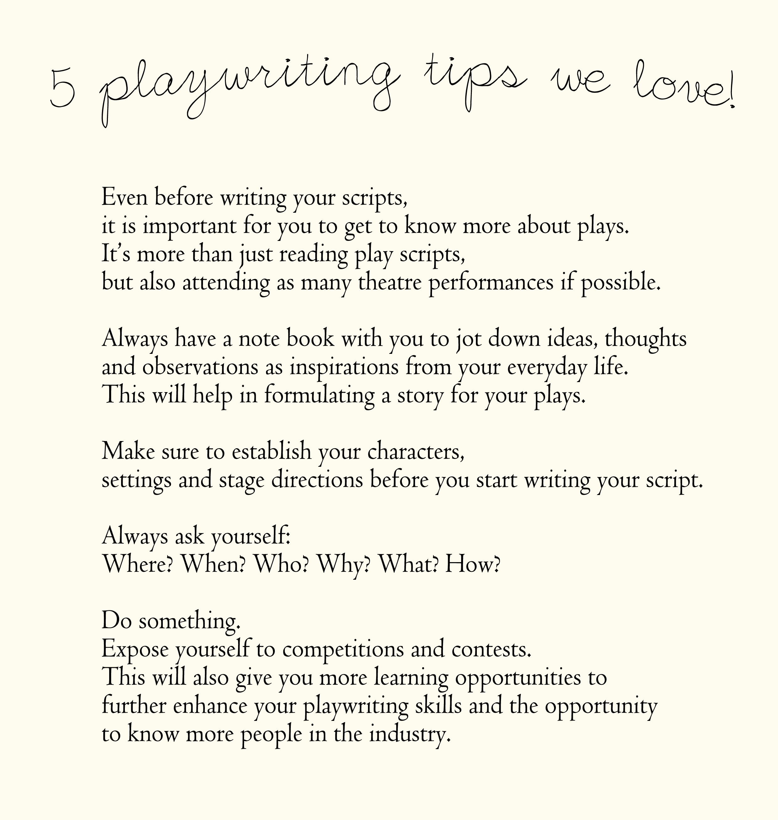 how to write a play How to write a play is demystified in our vast selection of playwriting books including proper play-script format, how to write a play script, and more.